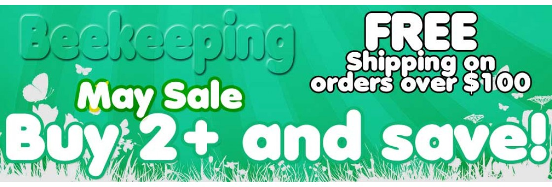 Buy 2 or more bee supplies and save! All of May!