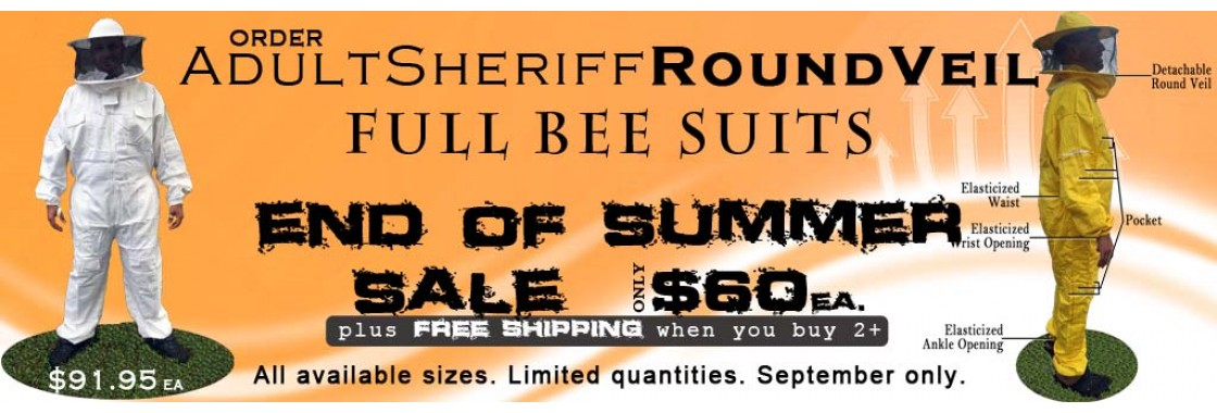 Adult Sheriff Round Veil Bee Suits Sale - July