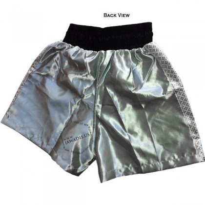 Adult Silver Gray Trainer Boxers Best Boxing Shorts Men's Trunks
