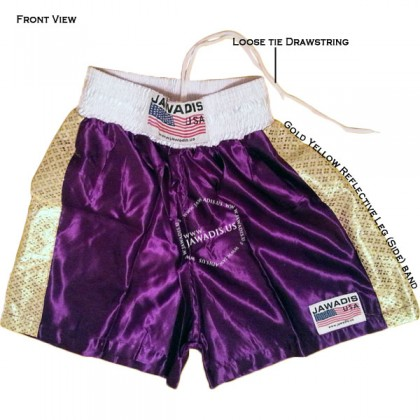 Adult Purple & Gold Pro Training Best Boxing Shorts Gym Trunks - Size M