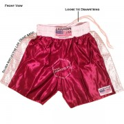 Adult Maroon Silver Training Boxers Baggy Gym Shorts Gym Trunks