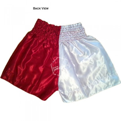 Adult Half White Red Training Boxers Best Boxing Trunks Gym Shorts