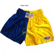 Adult Half Blue Yellow Training Boxers Best Boxing Shorts Gym Trunks - Christmas Gift Ideas