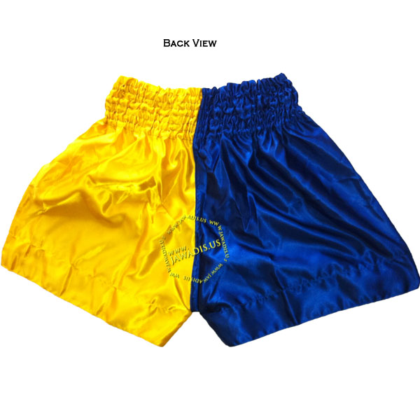 Half Blue Yellow Training Boxers Best Boxing Shorts Gym Trunks