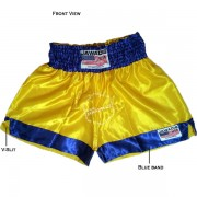 Adult Yellow & Blue Training Boxers Best Boxing Shorts Gym Trunks