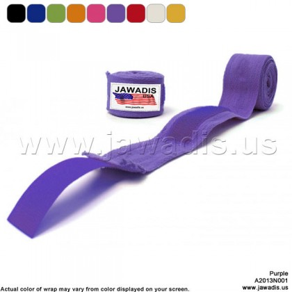 Jawadis Purple Hand Wraps for Boxing Gloves Handwrap Boxer Wrap