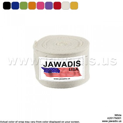 Jawadis White Muay Thai Bandage Hand Wrap Wrap Hands for MMA