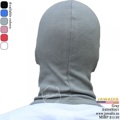 Gray Adult Balacava, Head Sock Racing, Balaclava Hood One-Size