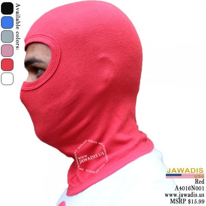 Red Balaclava Clothing, Balacava Head Sock for Helmet, One-Size