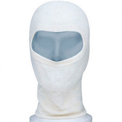 White Adult Motorbike Balacava Hood, Head Sock Racing, One-Size