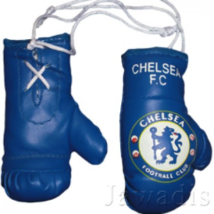 Mini Boxing Gloves - Chelsea - Blue Wrist