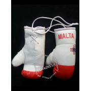 Mini Boxing Gloves - Malta - White and Red