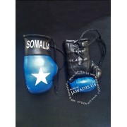Mini Boxing Gloves - Somalia - Black