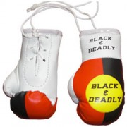 Mini Boxing Gloves - Black and Deadly