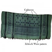 Shemagh Neck Wrap, Keffiyeh Shemagh Fashion Styles Sage, Caduceus