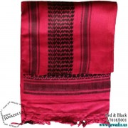 Shemagh Wrap, Keffiyeh, Military Head Scarf  - Red/Fuchsia & Black
