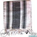 Shemagh Wrap, Keffiyeh, Military Head Scarf  - Black & White