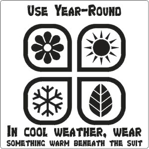Use Jawadis Ventilated Bee Suit year-round! Even in the winter! Wow!