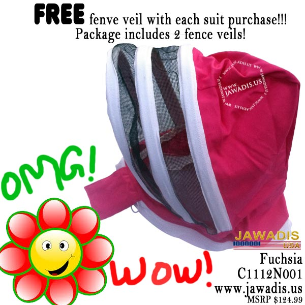 Jawadis kids fuchsia fence bee suit comes with two fence veils!!! wow!!!